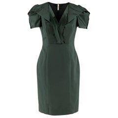 Prada Green Duchess-Satin Dress IT 42