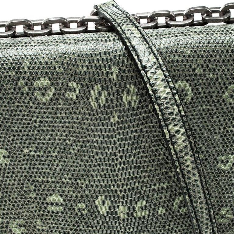 5728f62f11bc7a Prada Green Green/Black Nylon and Lizard Shoulder Bag For Sale at ...