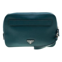Prada Green Leather Travel Organizer