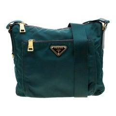 Prada Green Nylon Crossbody Bag