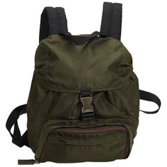 Prada Green Nylon Drawstring Backpack