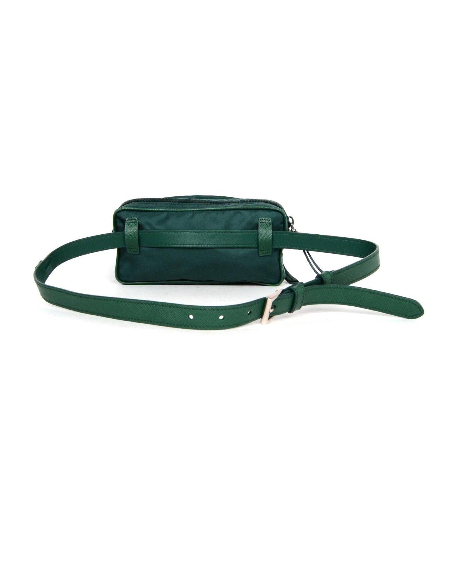 f52a0f3ec3f7 Prada Green Nylon Small Fanny Pack/ Belt Bag 30