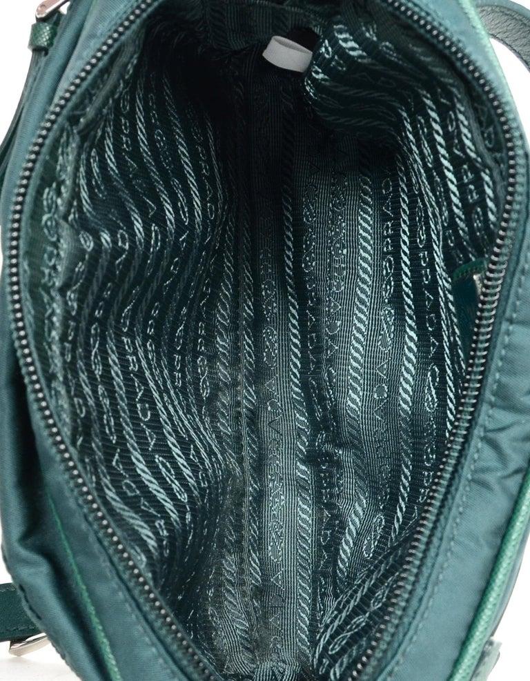 a2051e64d257 Prada Green Nylon Small Fanny Pack/ Belt Bag 30