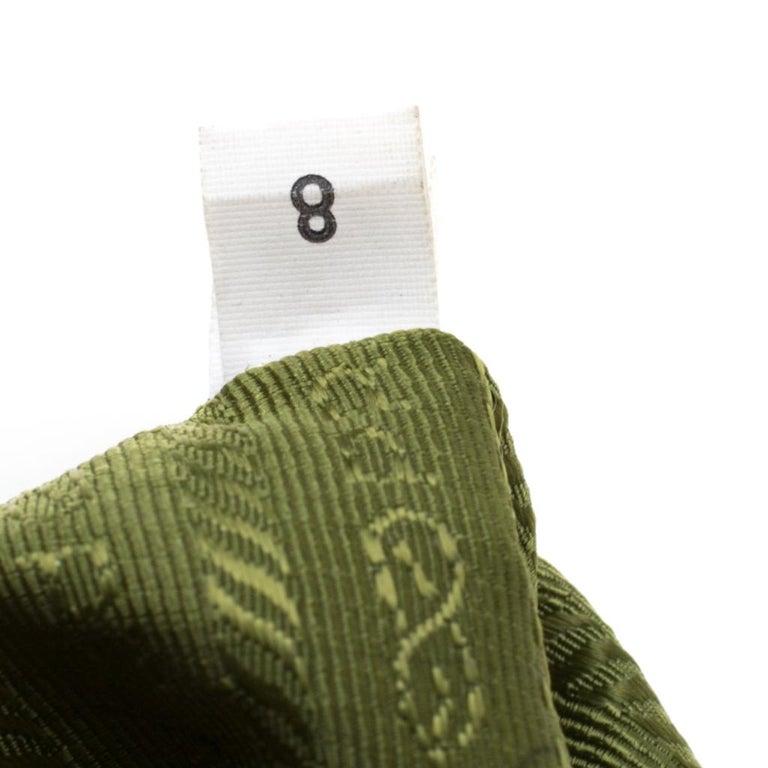 Prada Green Saffiano Lux Leather Parabole Tote For Sale 4