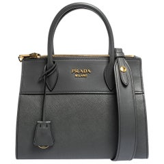 Prada Grey Leather Paradigme Tote