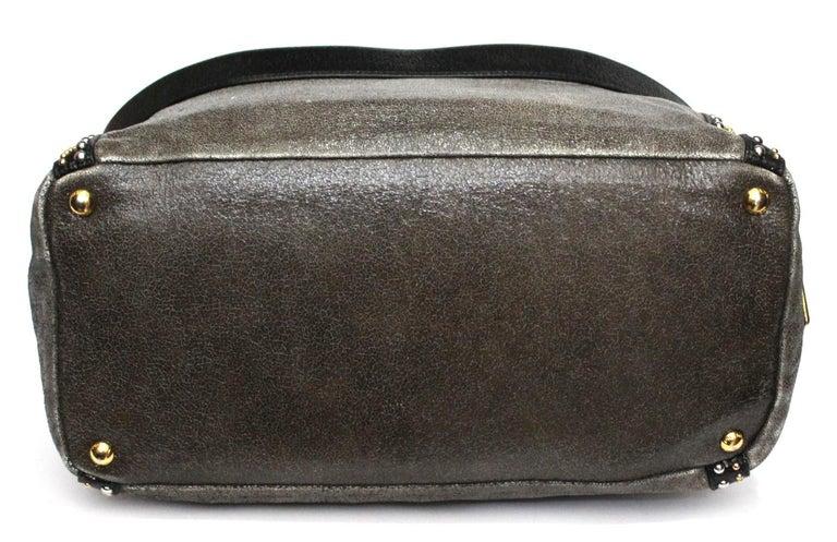 Prada Grey Leather Shoulder Bag For Sale 1