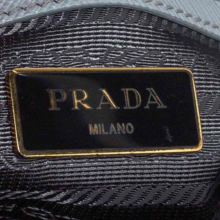 Prada Grey Saffiano Lux Leather Medium Galleria Tote For Sale 5