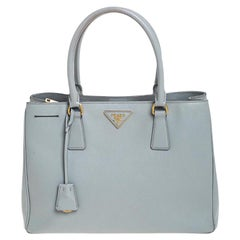 Prada Grey Saffiano Lux Leather Medium Galleria Tote