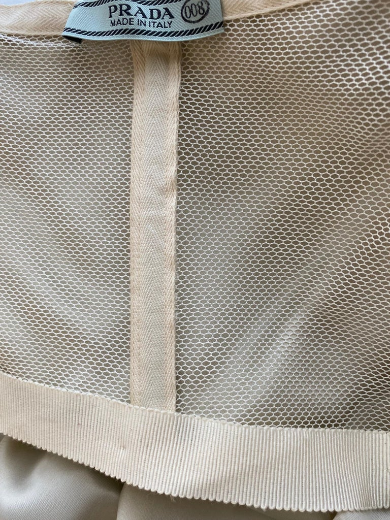 Prada Grey  Silk strapless cocktail Dress For Sale 7