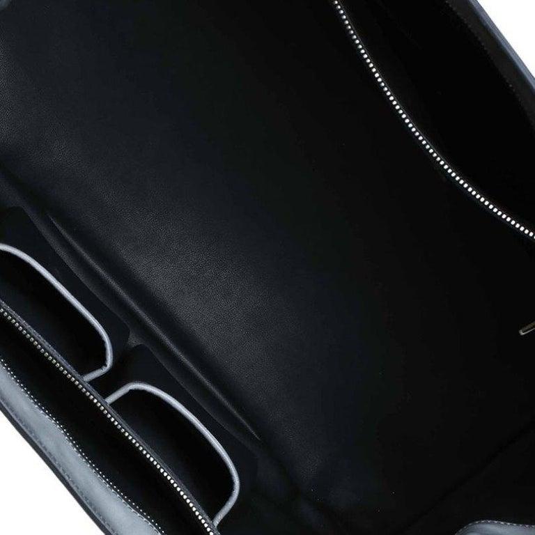 Prada Grey Spazzolato Leather Shopping Tote For Sale 2