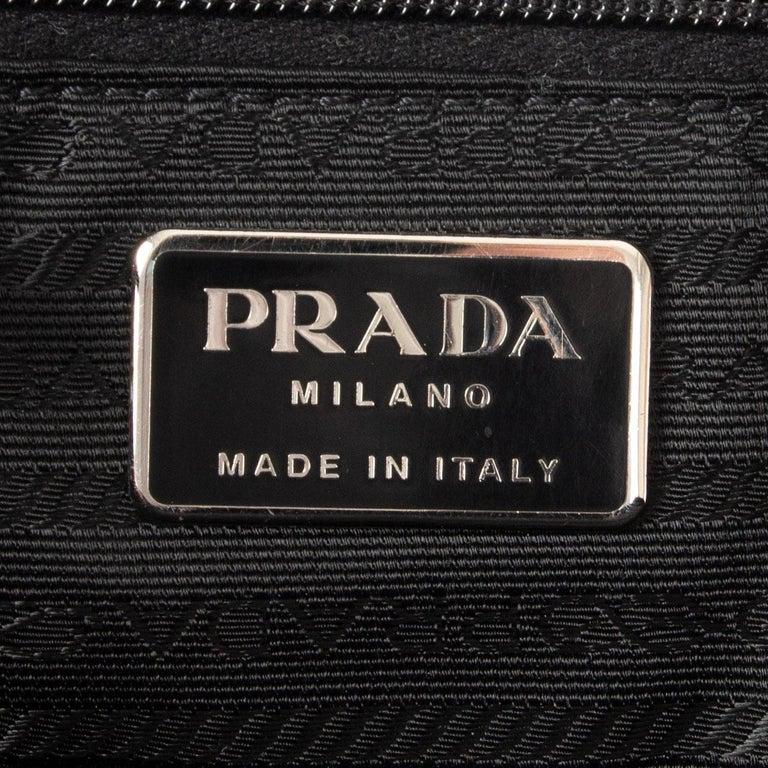 PRADA grey wool Double Handle Bag For Sale 1