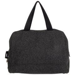 PRADA grey wool Double Handle Bag