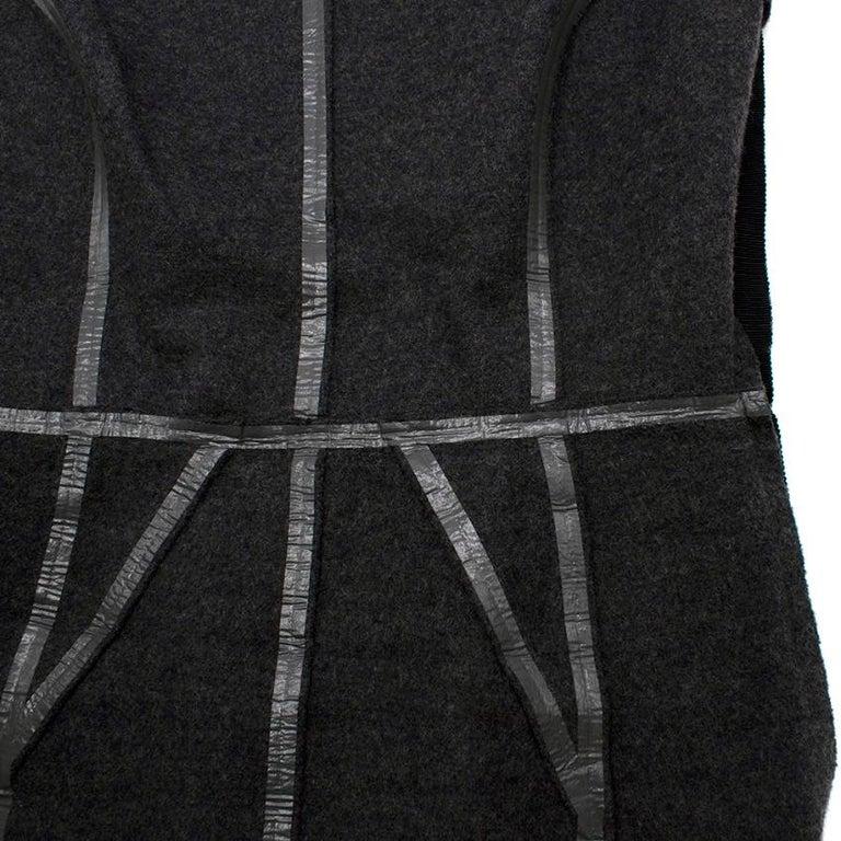 Prada Grey Wool Tailored Dress & Jacket - Size US 6 For Sale 1