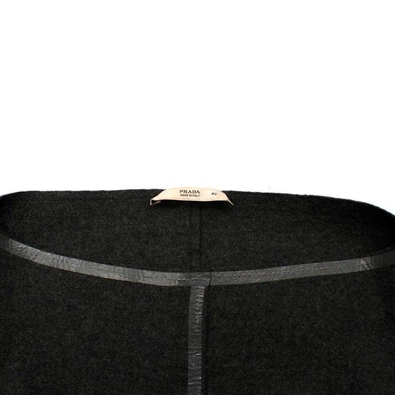 Prada Grey Wool Tailored Dress & Jacket - Size US 6 For Sale 2