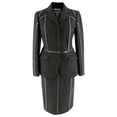 Prada Grey Wool Tailored Dress & Jacket - Size US 6