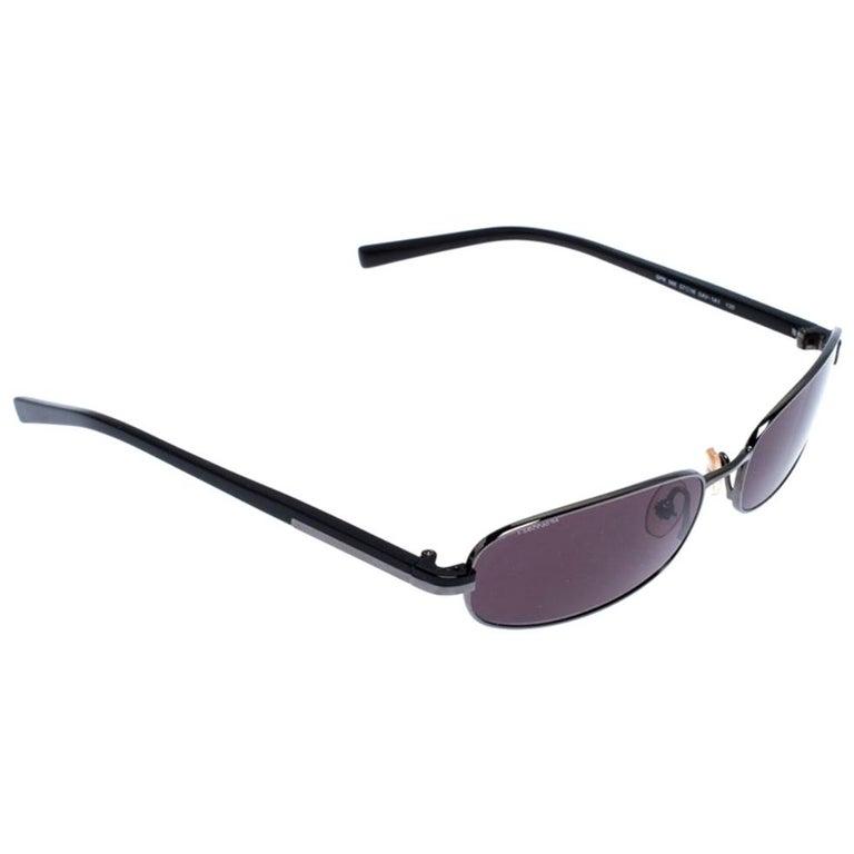 Prada Gunmetal Tone/ Grey SPR 56E Rectangular Sunglasses
