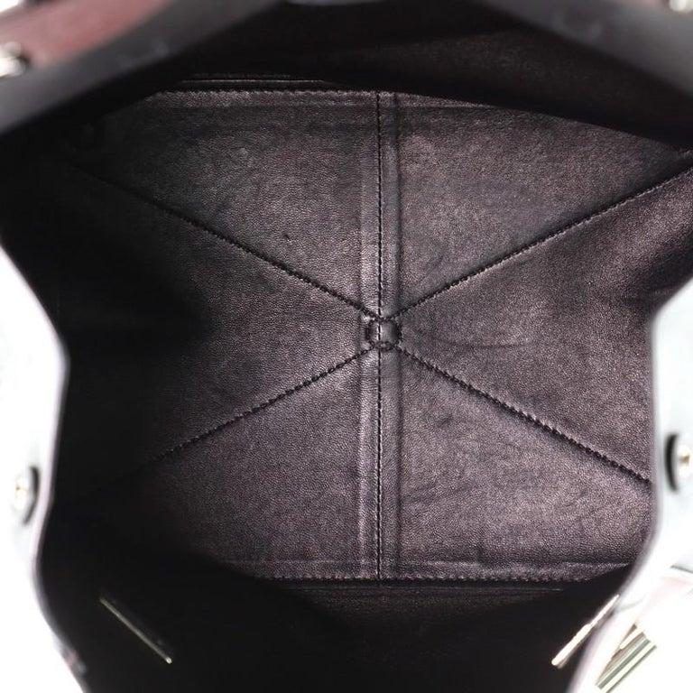 Prada Half Flap Double Turn Lock Satchel City Calfskin Large For Sale 2