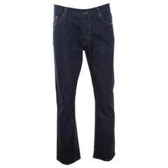Prada Indigo Dark Wash Classic Fit Denim Jeans XL