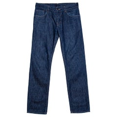 Prada Indigo Denim Straight Fit Jeans S
