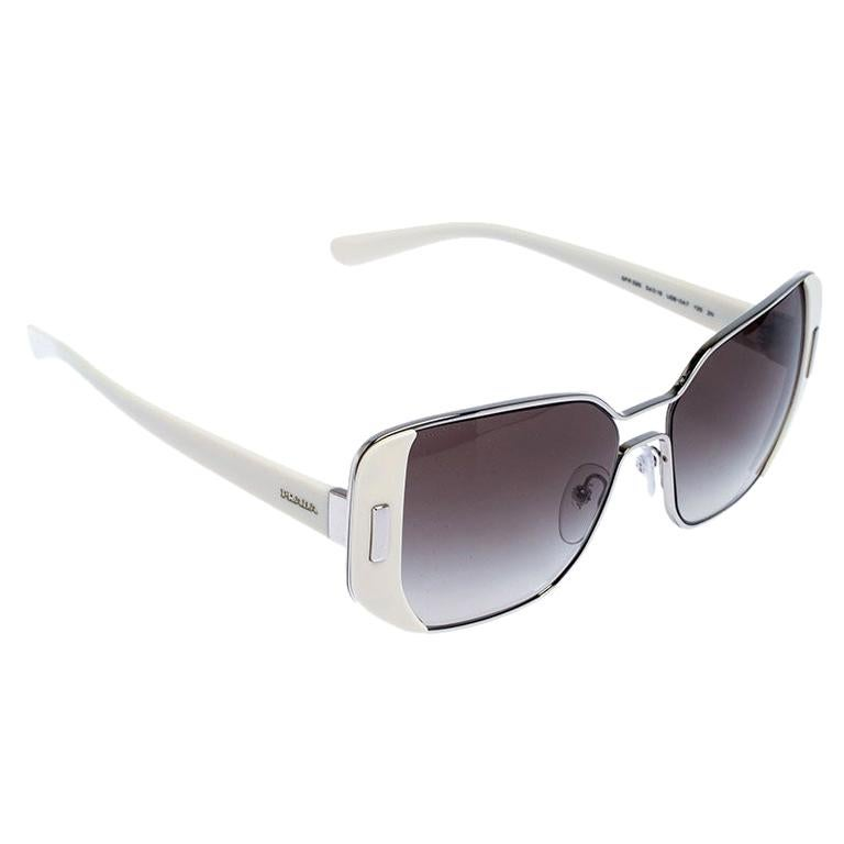 Prada Ivory/Black Gradient SPR 59S Square Sunglasses For Sale