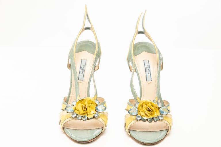 Prada Jewel Taillight Wedge Sandal, Spring 2012 For Sale 8