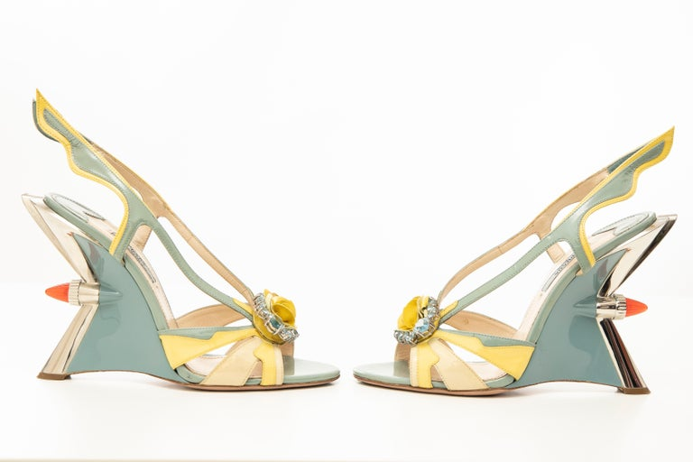 Prada Jewel Taillight Wedge Sandal, Spring 2012 For Sale 9