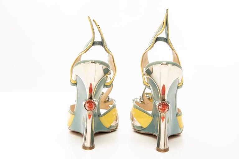 Prada Jewel Taillight Wedge Sandal, Spring 2012 For Sale 10