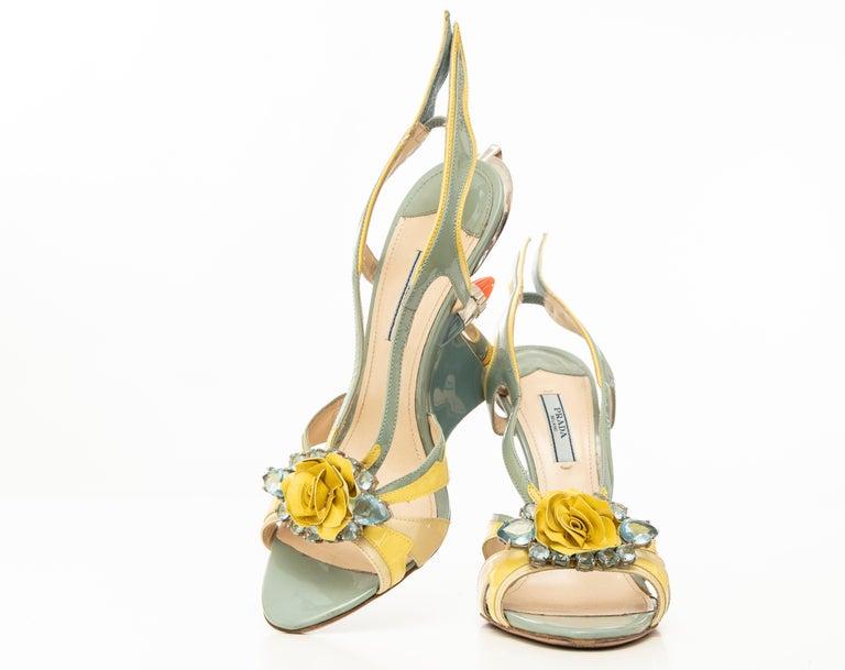 Prada Jewel Taillight Wedge Sandal, Spring 2012 For Sale 13