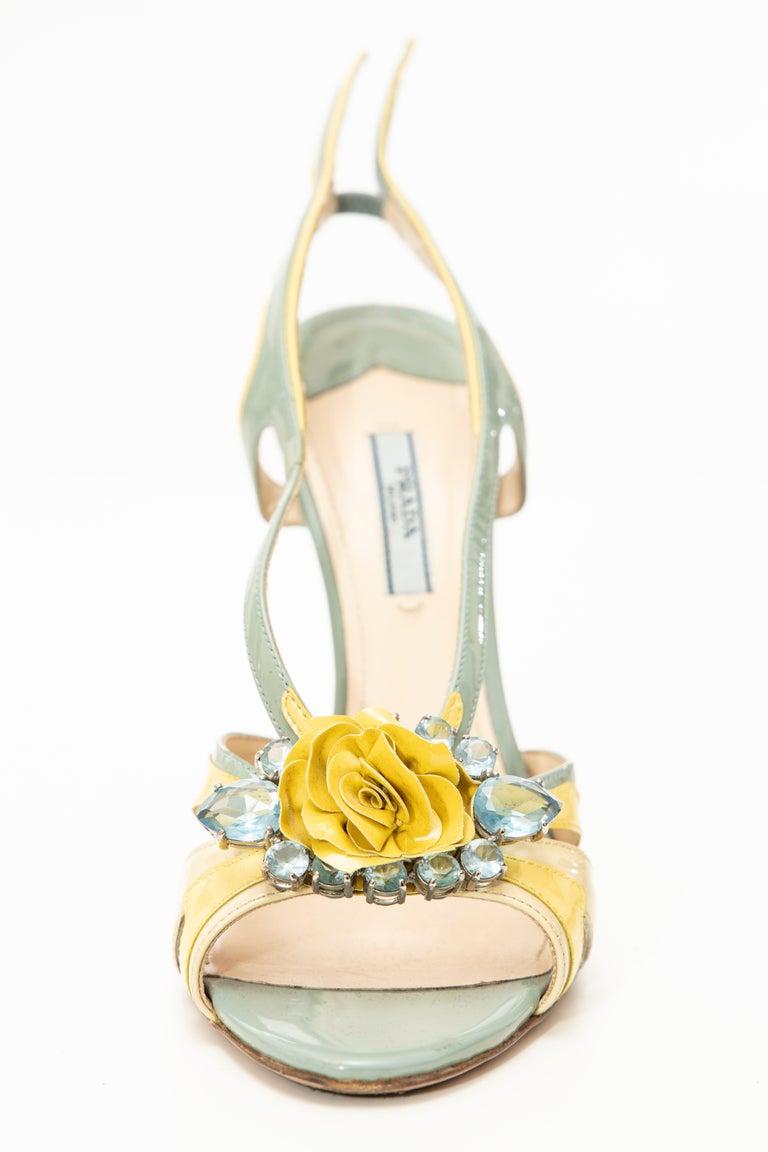 Prada Jewel Taillight Wedge Sandal, Spring 2012 In Good Condition For Sale In Cincinnati, OH