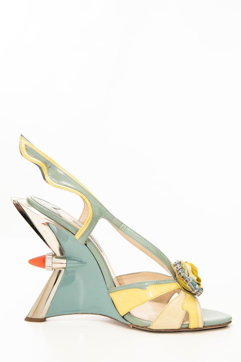 Women's Prada Jewel Taillight Wedge Sandal, Spring 2012 For Sale