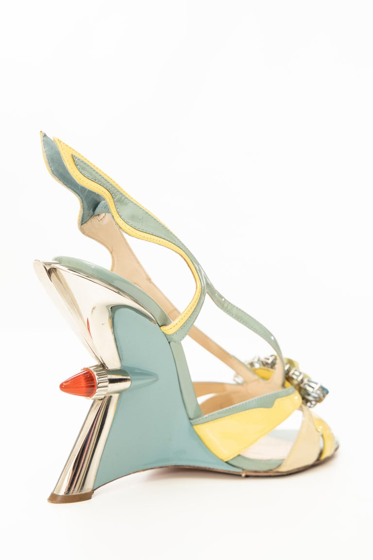 Prada Jewel Taillight Wedge Sandal, Spring 2012 For Sale 1