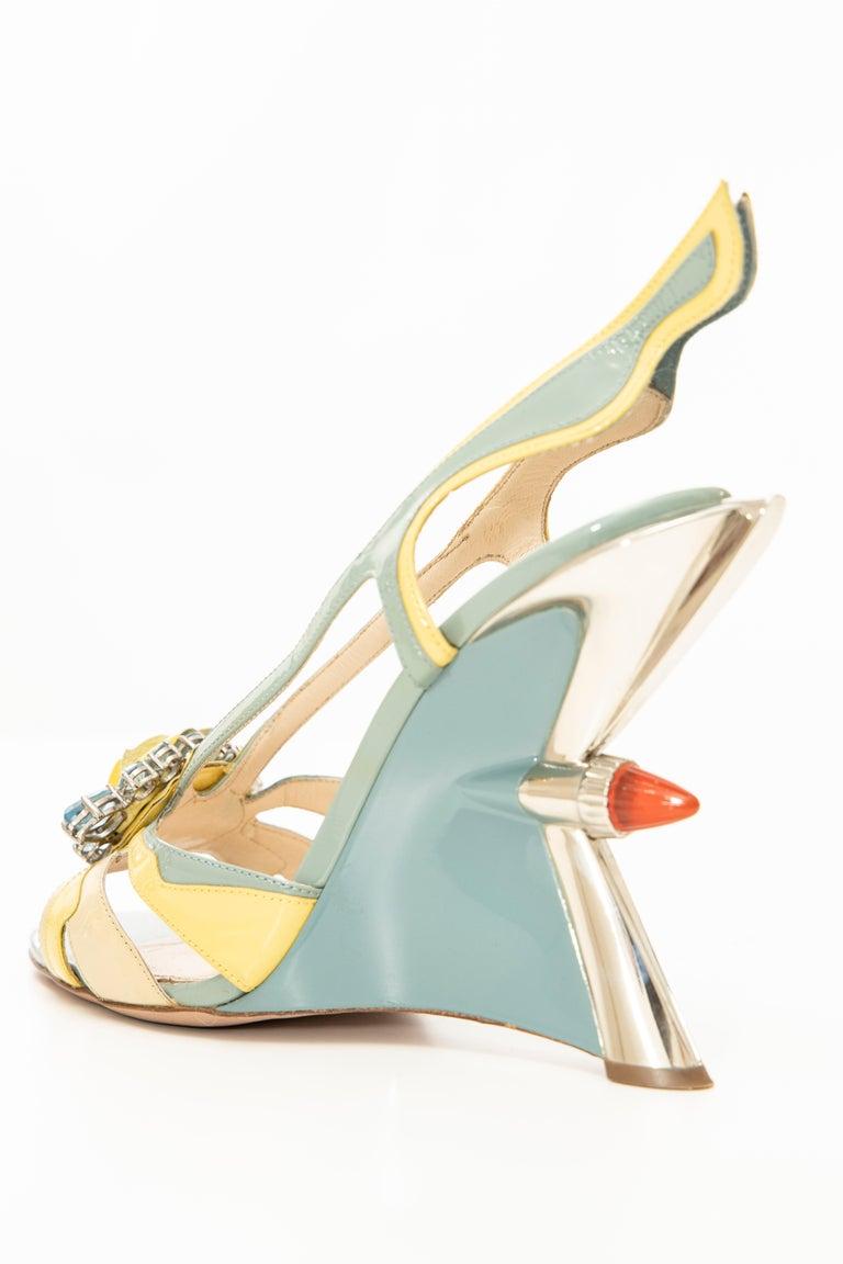 Prada Jewel Taillight Wedge Sandal, Spring 2012 For Sale 3