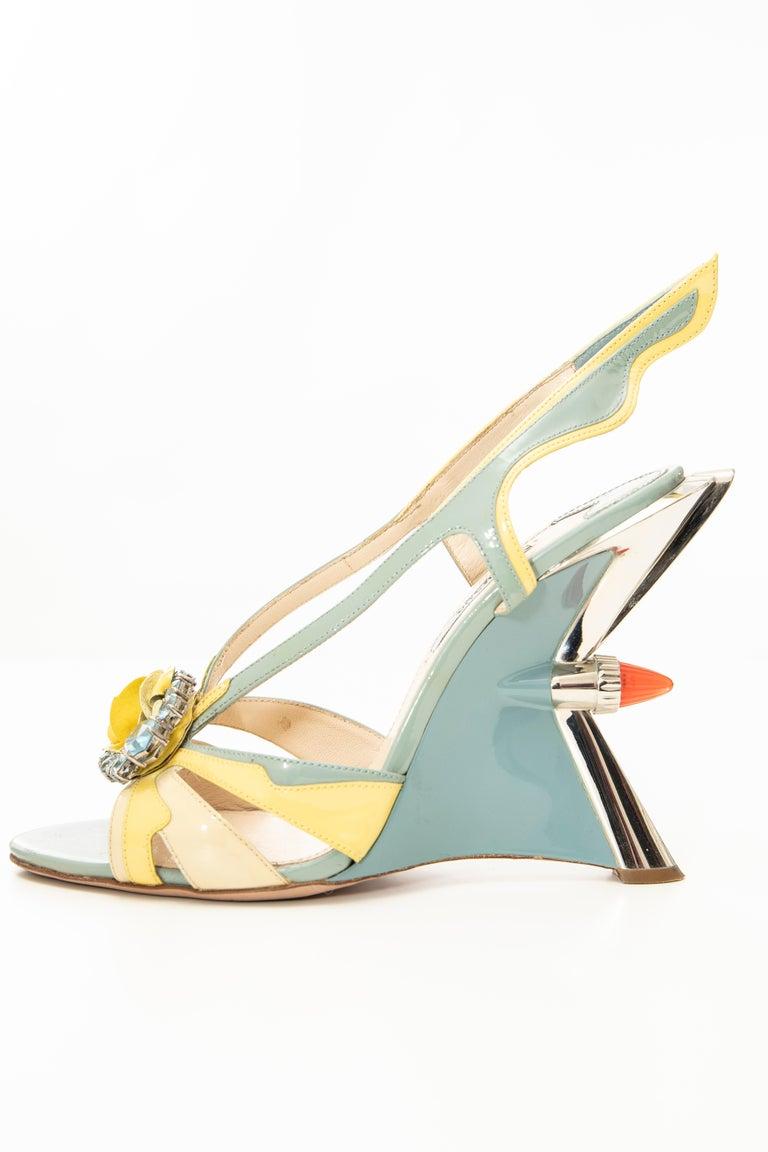 Prada Jewel Taillight Wedge Sandal, Spring 2012 For Sale 4