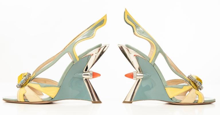 Prada Jewel Taillight Wedge Sandal, Spring 2012 For Sale 5