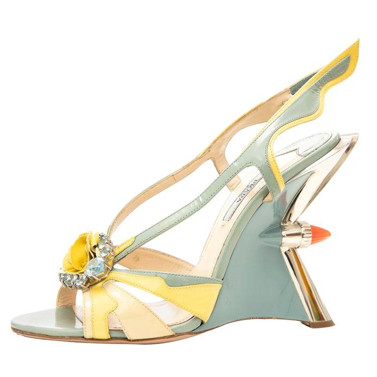 Prada Jewel Taillight Wedge Sandal, Spring 2012 For Sale