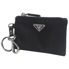 PRADA key ring  unisex coin case 2TT080 black