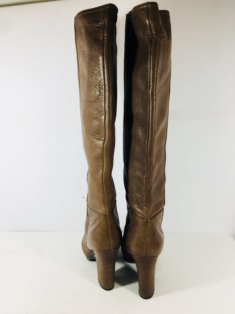 Prada Knee High Leather Boots For Sale 1