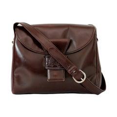 Prada Leather Brown Shoulder Bag 1990s