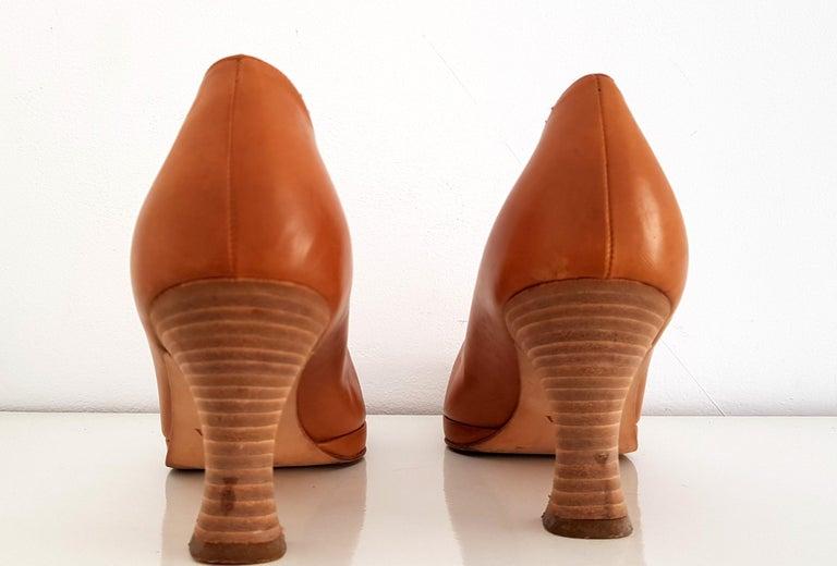 Prada Leather Heels. Size 40 In Good Condition For Sale In Somo (Santander), ES
