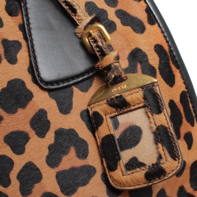 PRADA Leopard Print Handbag In Fair Condition For Sale In Melbourne, Victoria