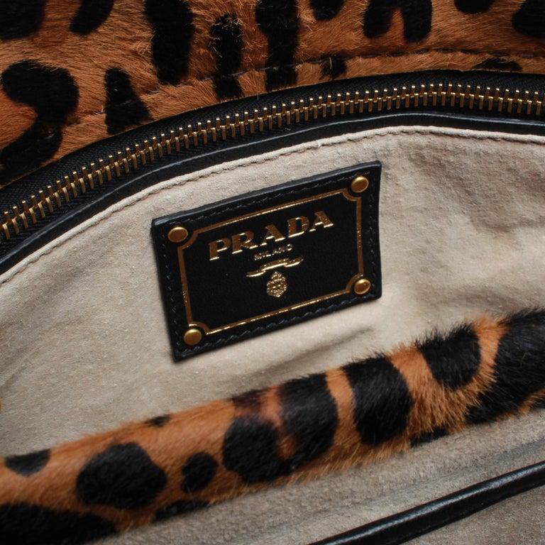 PRADA Leopard Print Handbag For Sale 1