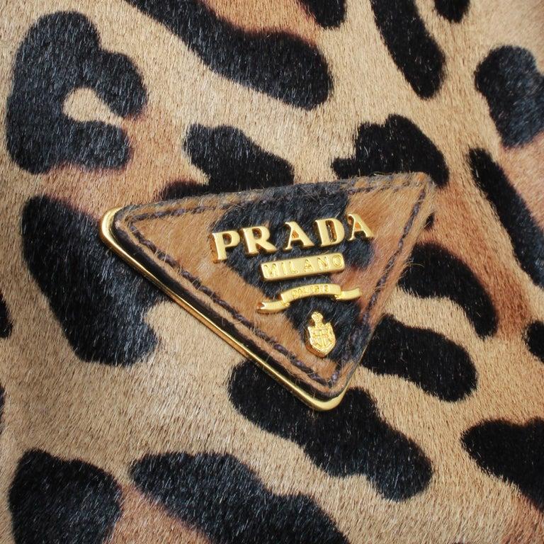 PRADA Leopard Print Handbag For Sale 3