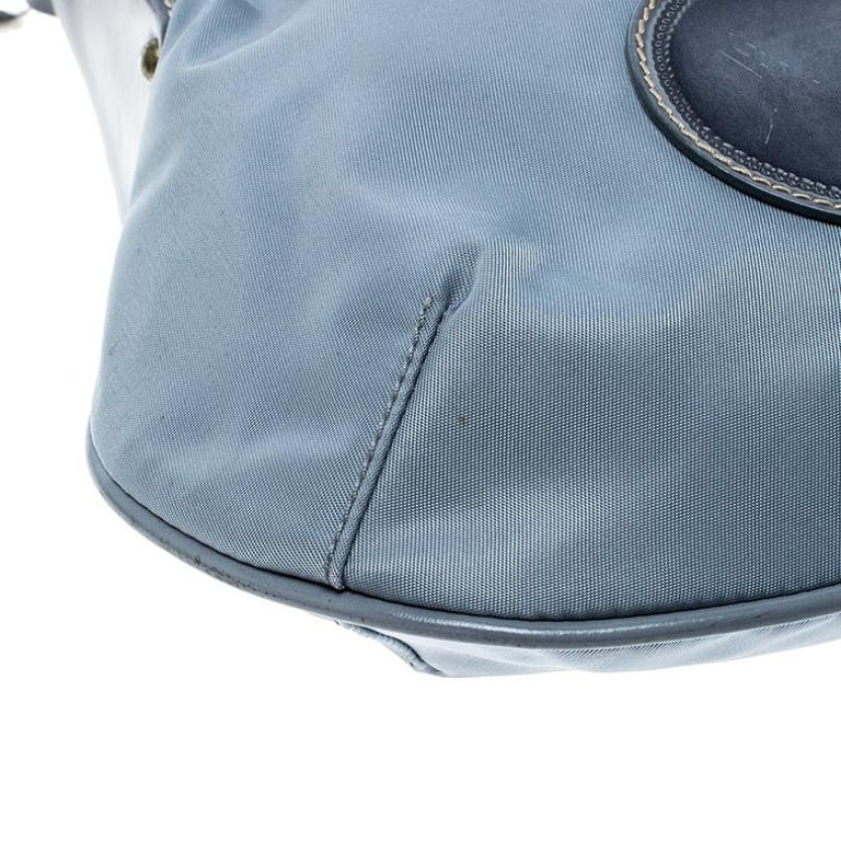 Prada Light Blue Nylon Shoulder Bag For Sale 5