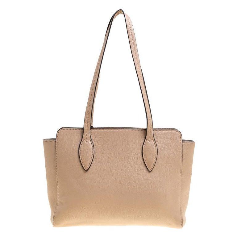 Prada Light Brown Leather Shoulder Bag