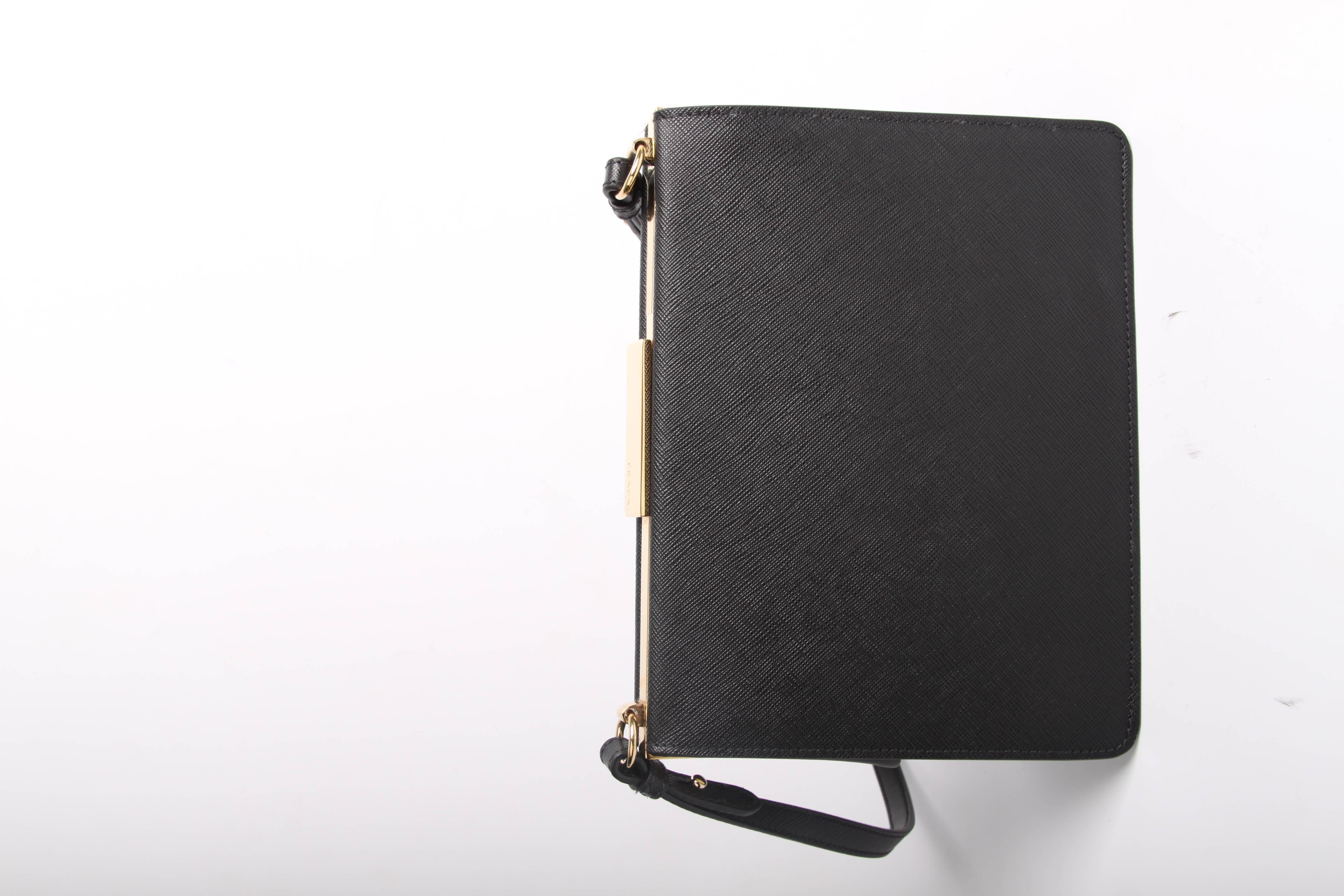 6c5a1ab60150ca Prada Light Frame Saffiano Leather Shoulder Bag - black 2018 at 1stdibs
