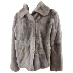 Prada light grey mink fur