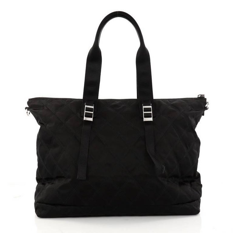 Prada Limited Edition Patches Tote Quilted Tessuto Large For Sale 2