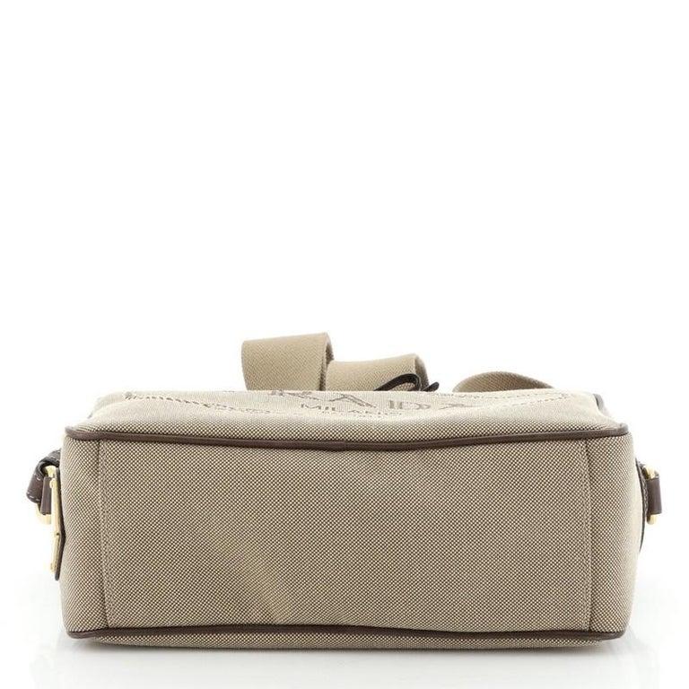 Women's or Men's Prada Logo Camera Bag Canvas Small  For Sale