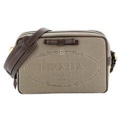 Prada Logo Camera Bag Canvas Small