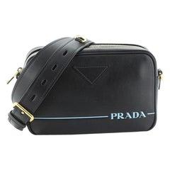 Prada Logo Camera Bag City Calf Medium